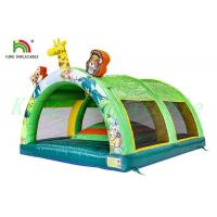 Buy cheap Colorful Wild Animal Inflatable Bouncy Tent Kids PVC Bouncer With Small Hill product