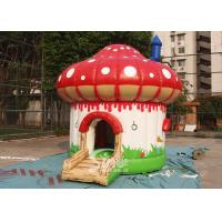 Buy cheap Indoor / Outdoor Kids Mushroom Inflatable Bounce Houses Commercial product
