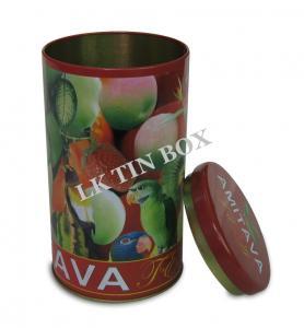 Buy cheap Contenedor de almacenamiento redondo del té de la caja de la lata del cilindro de Airtighted con la tapa del enchufe product