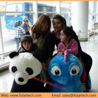Buy cheap battery motorized animals ride walking stuffed animals car painting games product