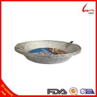 Quality Disposable Refined Household Aluminum Foil Plate With Cover for sale