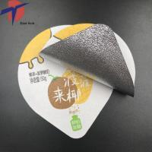 Buy cheap Food Grade Aluminium foil sealing lids for yogurt packaging,yogurt cup sealing aluminium lids product
