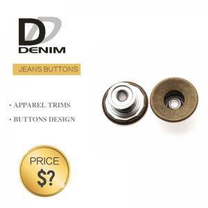 Buy cheap Classic Anti Brass Denim Metal Buttons , Denim Jeans Trousers Button product