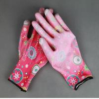 Buy cheap 13 gauge PU coated safety working nylon garden glove product