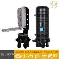 Black Outdoor Cable Box Enclosure , High Level Plastic Dome Type FTTH Closure for sale