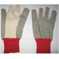 China 6 OZ t/c canvas pvc dots glove twill glove cheap glove on sale