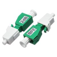 Buy cheap LC / APC Single Mode Attenuator 2dB / 5dB Male - Female With Green Color from wholesalers