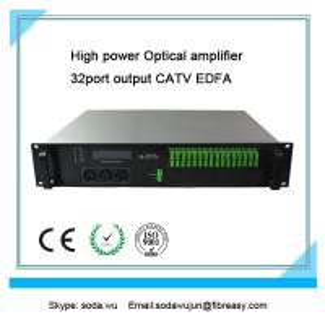 le port optique du support 32 de l'amplificateur 2U de fibre a produit CATV EDFA 19dBm chaque port de puissance de sortie
