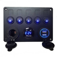 Buy cheap Hot selling universal 4 gang cat eye switch panel 24V with dual USB charger for marine car truck product
