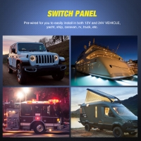 Buy cheap 10 Gang Waterproof Car Automatic Boat Marine LED AC/DC Rocker Switch Panel with circuit breaker product