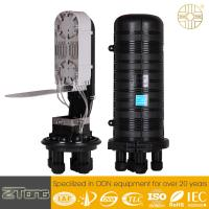 China 72F Fibers / Tray Fiber Optic Connection Box , Small Heat Shrinkable Splice Closure on sale