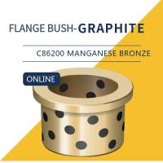 Buy cheap UNS C86200 430A Manganese Bronze Bushing Plugged Graphite Cast Flange Bearings product