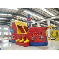 Buy cheap Outdoor Game Colourful Inflatable Pirate Ship Bouncer House Waterproof 8 X 4 X 5m product