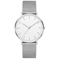 Quality 3 ATM Water Resistant Silver Stainless Steel Watch 316l 40mm Diameter Watch Case for sale