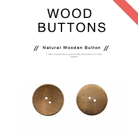 Buy cheap Round 2 Holes Engraved Natural Wooden Buttons For Shirts product