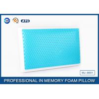 China Standard size memory foam cooling gel pillow with different gel layer wholesale