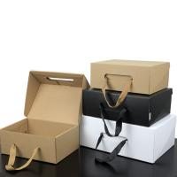 Buy cheap Luxury Custom Printing Packaging Paper Gift Box Handle Corrugated Box product