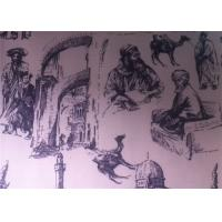 Buy cheap Printed Polycotton Fabric Regenerated Fabric Charcoal Drawing product