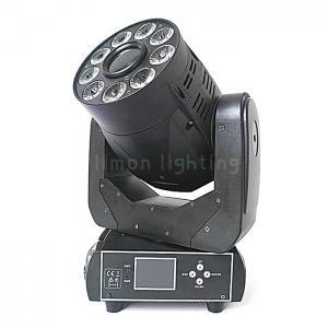Buy cheap 90W Spot+ 9x18W RGBWAUV 6in1 DMX LED Wash Moving Head Spot Light product