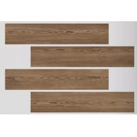 Buy cheap CE ISO Listed Dark Brown Wood Look Porcelain Tile High - Tech Building Materials product