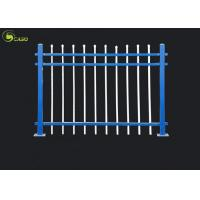 China Galvanized PVC Wrought Iron Fence Security Tubular Separate Guardrail Zinc Steel Garden Fence on sale
