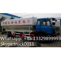 China hot sale dongfeng brand LHD 190hp hydraulic system discharging lickstock fish feed delivery truck, feed delivery truck on sale