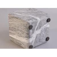 Quality Pot Marble Effect Concrete Candle Jar , Modern Candle Holders Round Bottom for sale