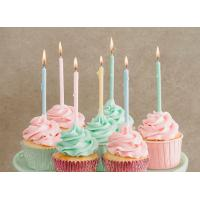 Buy cheap 12 Pcs Long Birthday Cupcake Candle , Long Skinny Birthday Candles Eco Friendly from wholesalers