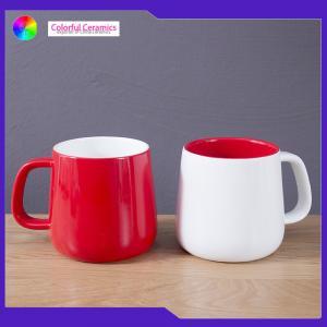 Buy cheap Lead Free Glazed Ceramic Coffee Mugs Microwave Safe Large Capacity Customized Logo product