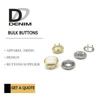 Buy cheap Gold Color Nickel - Free Prong Pearl Snap Fasteners product
