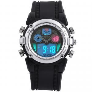 Buy cheap EL Backlight Sport Wrist Watches Silver Case , Digital Sport Watch product
