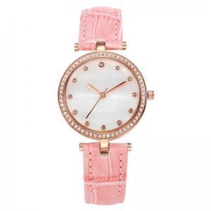 Buy cheap Ladies Leather Band 5ATM Quartz Stainless Steel Watch Swarovski Diamond Case product