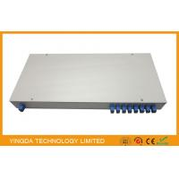 China ODM Fiber Optic PLC Splitter In 19 inch Rack Patch Panel 1u Sc / Apc Terminated Rack Mount wholesale
