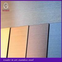 China Hairline finish stainless steel sheets wholesale