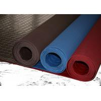 Red Industrial Rubber Sheet Top Round Button , Bottom Impression Fabric Non Slip