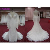 Buy cheap Modest Soft Lace Mermaid Style Wedding Dress With Long Sleeves Appliqued Decor product