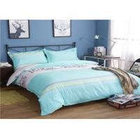Buy cheap Soft And Comfortable Cotton Bedding Sets / Green And White Bed Comforter Cover product