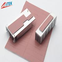 Pink Heat Dissipation Fins Thermal Gap Filler For LED - lit Lamps -50 - 200℃ Continuos Use Temp 1.0 W/m-K