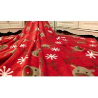 Super Soft Printed Coral Fleece Blanket / Coral Plush Blanket For Travel , Hotel