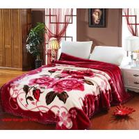 China Blanket with flowers Grade A B Thicken Laschel Blankets Home Textile pink&beige blankets on sale