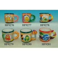 Buy cheap Dolphin Custom Ceramic Mugs With Beach Umbrella Handle 8.5 X 12 X 9 Cm product