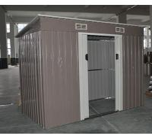 Buy cheap Equipos encerrados de la vertiente del metal prefabricado del jardín con las puertas deslizantes bloqueables dobles product