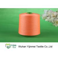 High Strength Strong Dyed Polyester Yarn , Bright Core Spun Yarn On Plastic Cone