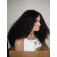 Quality Wholesale 100% Virgin Human Hair Light Yaki Bleached Knots Full Lace Wig for sale