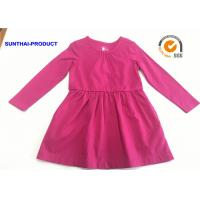 Buy cheap Comfortable Plain Baby Clothes Azalea Color Toddler Short Sleeve Dress product