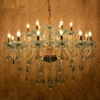China Modern crystal chandelier Kitchen Bedroom lustre de sale dining room lustre de cristal para sala de jantar Blue Color wholesale