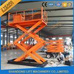 Buy cheap 1T 5.5M Hydraulic Heavy Duty Scissor Lift Electric Home Scissor Lift Platform With CE product