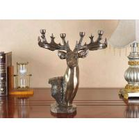 China Deer head, antlers candlestick crafts , Resin crafts gifts on sale