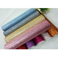 China Shoes Bags Wallpaper Glitter Fabric Roll Knitted Backing Technics 0.6mm Thickness on sale