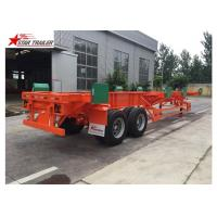 Buy cheap 4 Double Chamber 40 Foot Flatbed Trailer With Heavy Duty Type Suspension from wholesalers